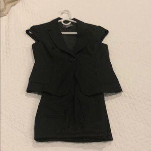 NWOT black pin stripe suit